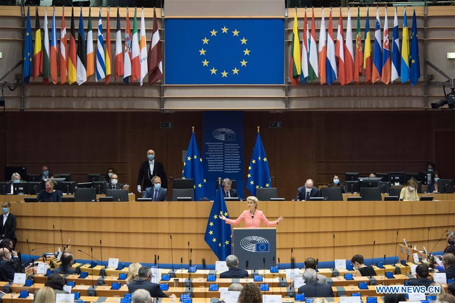 BELGIUM-BRUSSELS-EU-VON DER LEYEN-STATE OF UNION-SPEECH