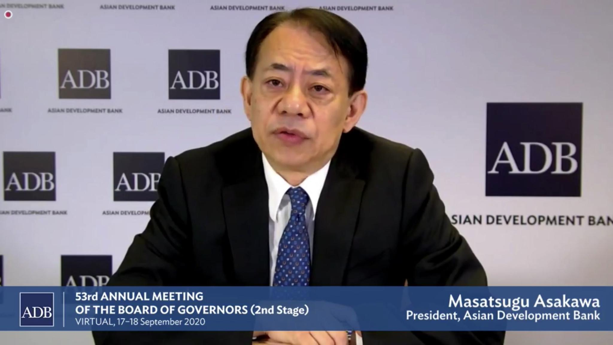 亚行誓与亚洲发展中经济体共抗疫情 促进经济复苏图片