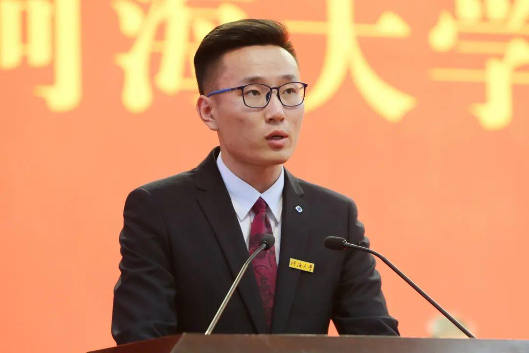 在校生代表邵晓琦在河海大学2020级研究生开学典礼上的发言图片