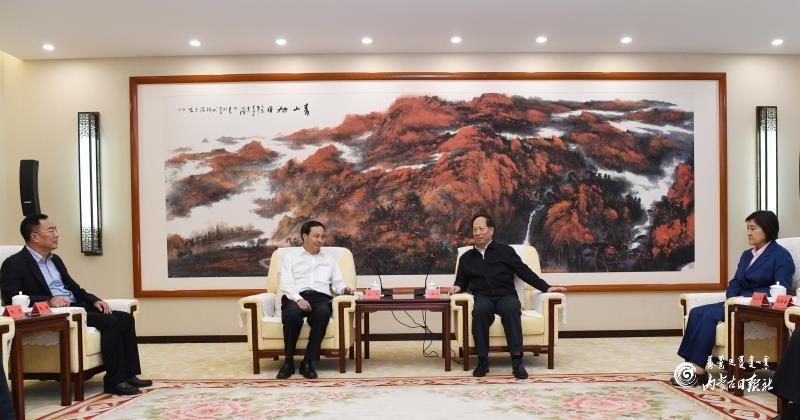 石泰峰布小林会见国家开发银行董事长赵欢图片