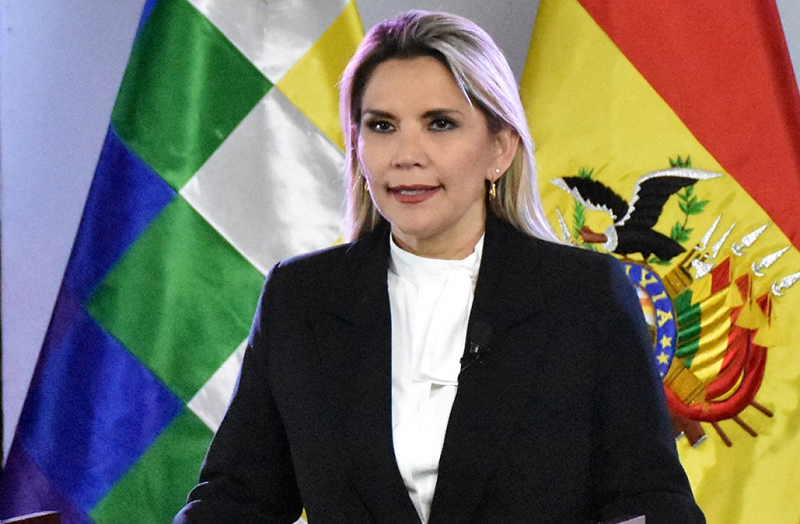 玻利维亚临时总统阿涅斯宣布放弃参加大选