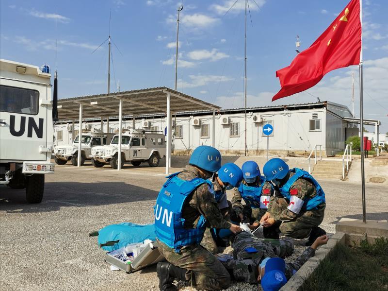 中国第19批赴黎巴嫩维和医疗分队官兵立身为旗 维护和平图片