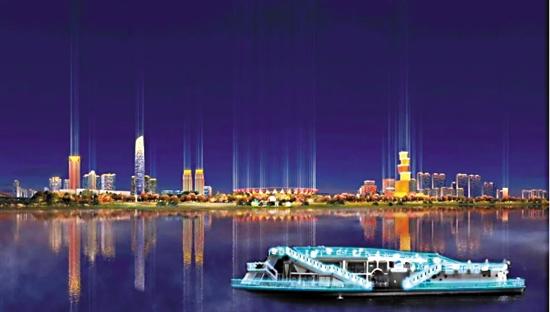 三龙湾夜游可一览佛山多个地标建筑 (效果图)