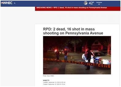 美国纽约州凌晨发生大规模枪击事件:16人中枪2人死亡