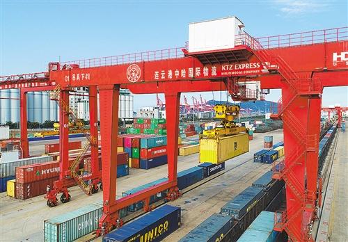 前8个月连云港中欧班列同比增长41.6% 累计到发国际班列418列