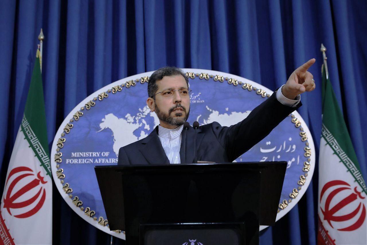 △伊朗外交部发言人哈蒂布扎德(图片来自伊朗媒体)