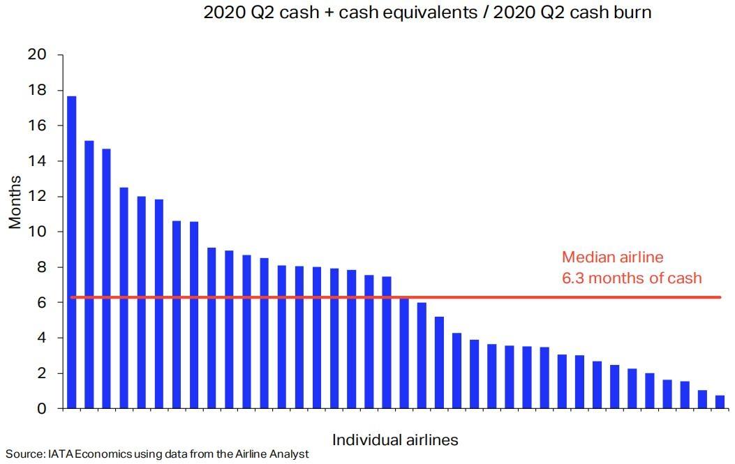 IATA:一些航空公司的现金余额可能难以度过寒冬