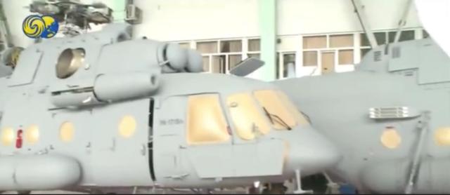 在电视节目中出现的米-171Sh直升机