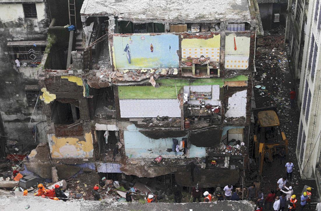 印度西部建筑倒塌事故遇难者人数上升至20人