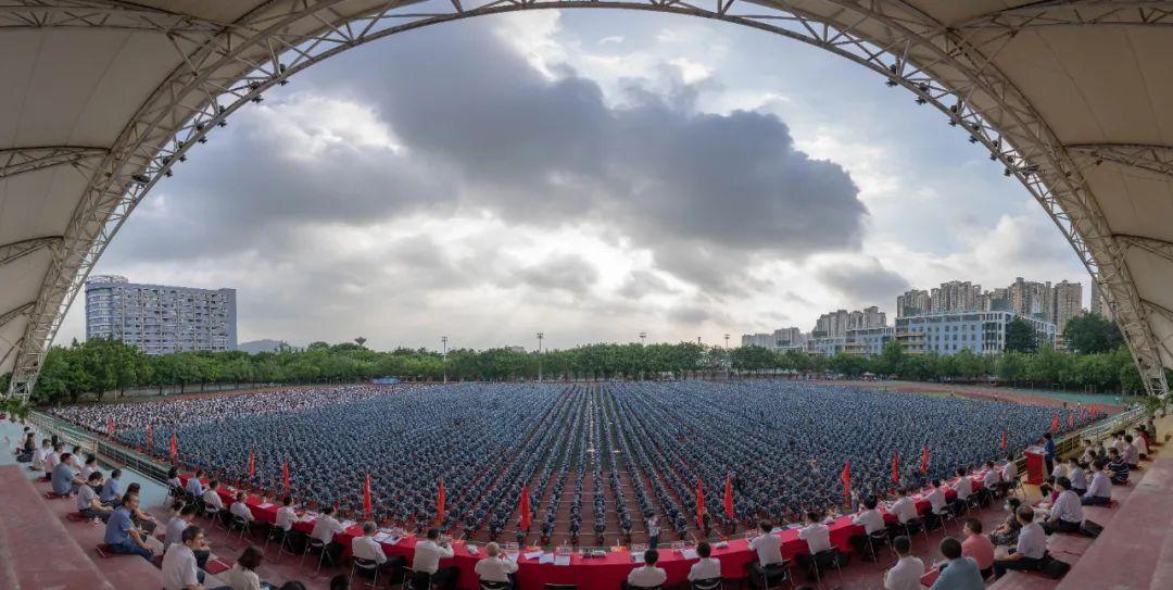 超震撼!华农1.3万人开学典礼现场直击!图片