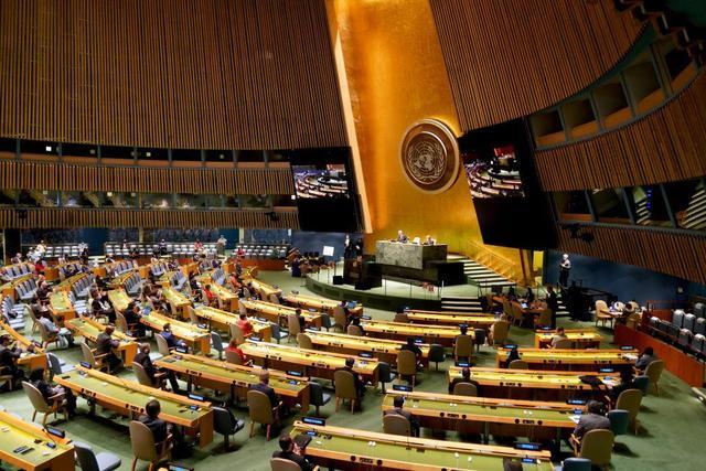 """国际锐评:世界需要什么样的联合国?""""中国主张""""解答""""时代之问""""图片"""
