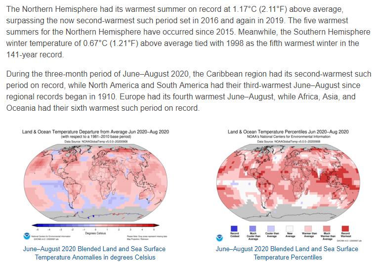 △图片来自NOAA本月全球气候报告