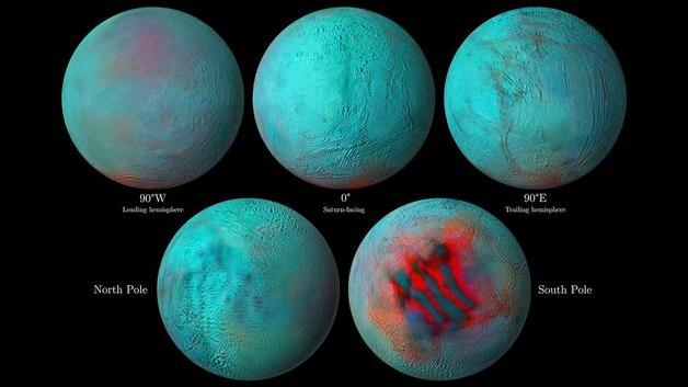 科学家在土卫二意想不到的地方发现了新冰