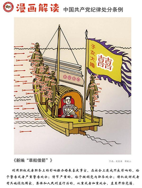 漫说党纪82 | 新编草船借箭图片
