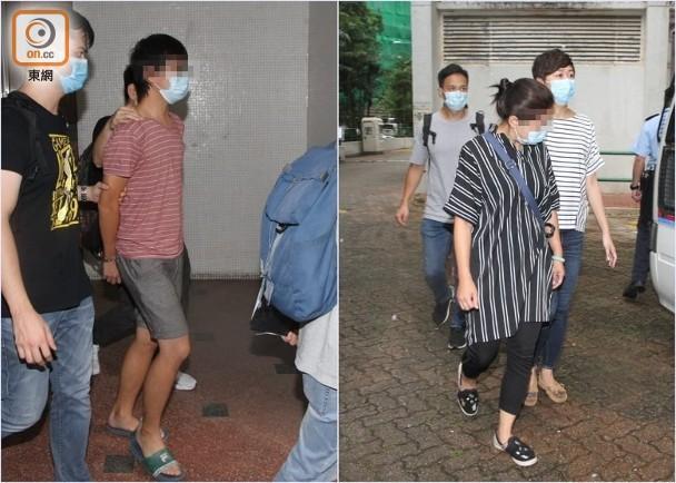 """涉案两母子被警方拘捕带署观察 图源:香港""""东网"""""""