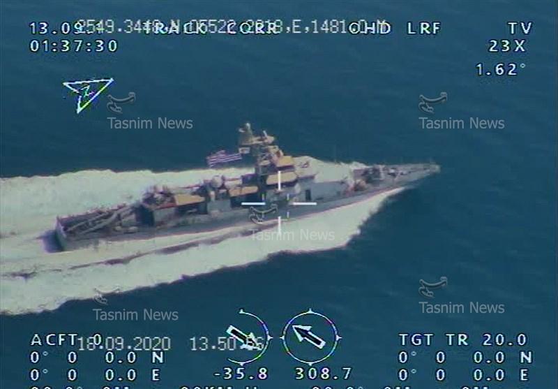 伊朗革命卫队公布无人机拍摄的美国航母照片