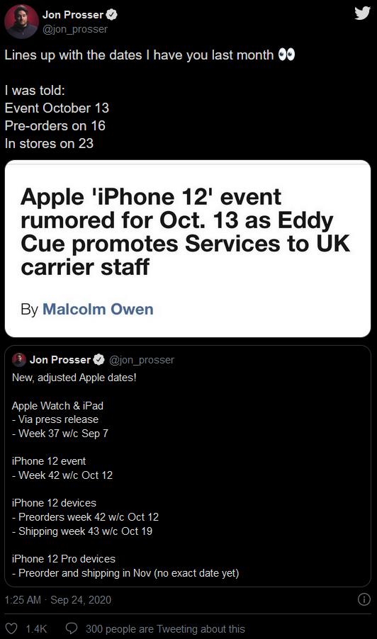 """泄密者确认苹果将于10月13日举办""""iPhone 12""""活动"""
