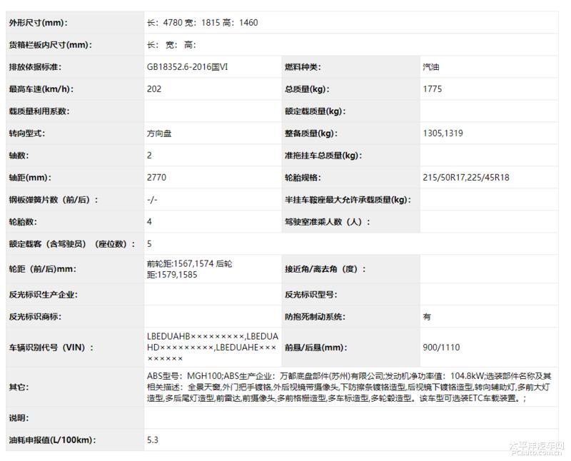 北京现代全新名图申报图 计划年内上市
