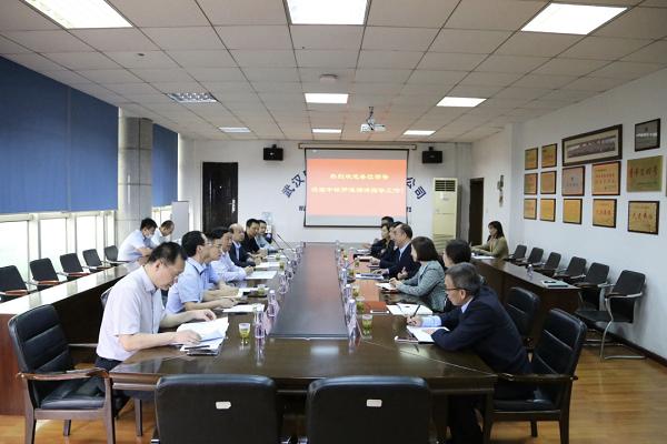 中国铁物党委书记、董事长朱碧新考察调研驻汉企业