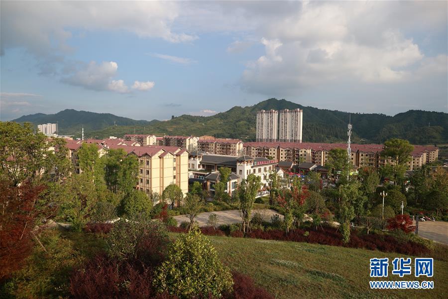 这是贵州省毕节市柏杨林安顿点一景(8月3日摄)。 记华社新者。 刘续 摄
