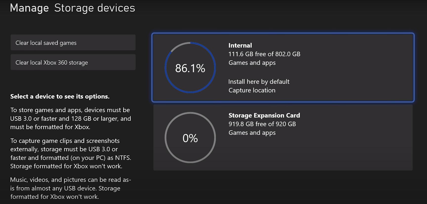 微软XSX主机内置SSD有802G可用空间