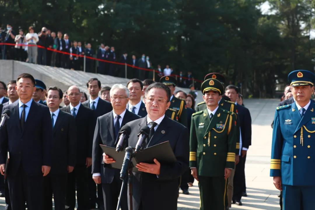 第七批在韩中国人民志愿军烈士遗骸在沈阳安葬图片