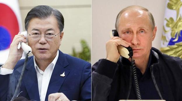 文在寅邀请普京访韩 普京:打了俄罗斯疫苗就去(图)
