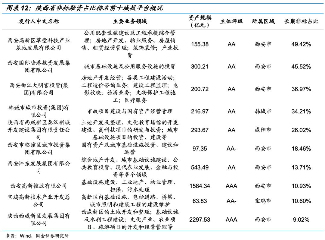 【国金研究】城投非标手册——西北篇