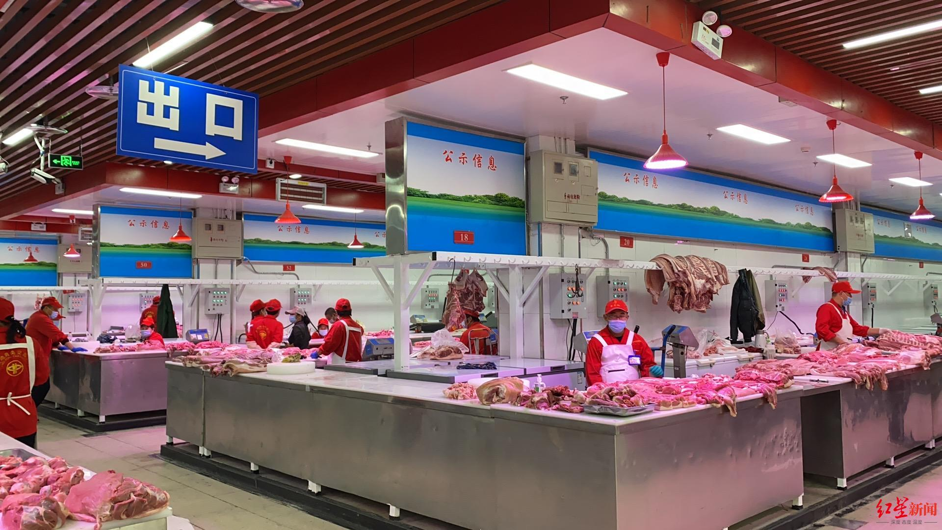 探访复市后的新发地猪肉批发大厅:每日空出半天消杀