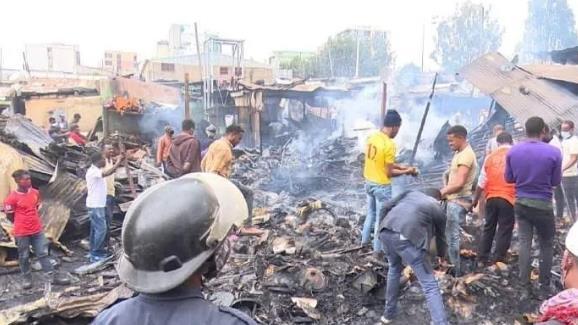 埃塞首都发生严重火灾 财产损失超1200万比尔