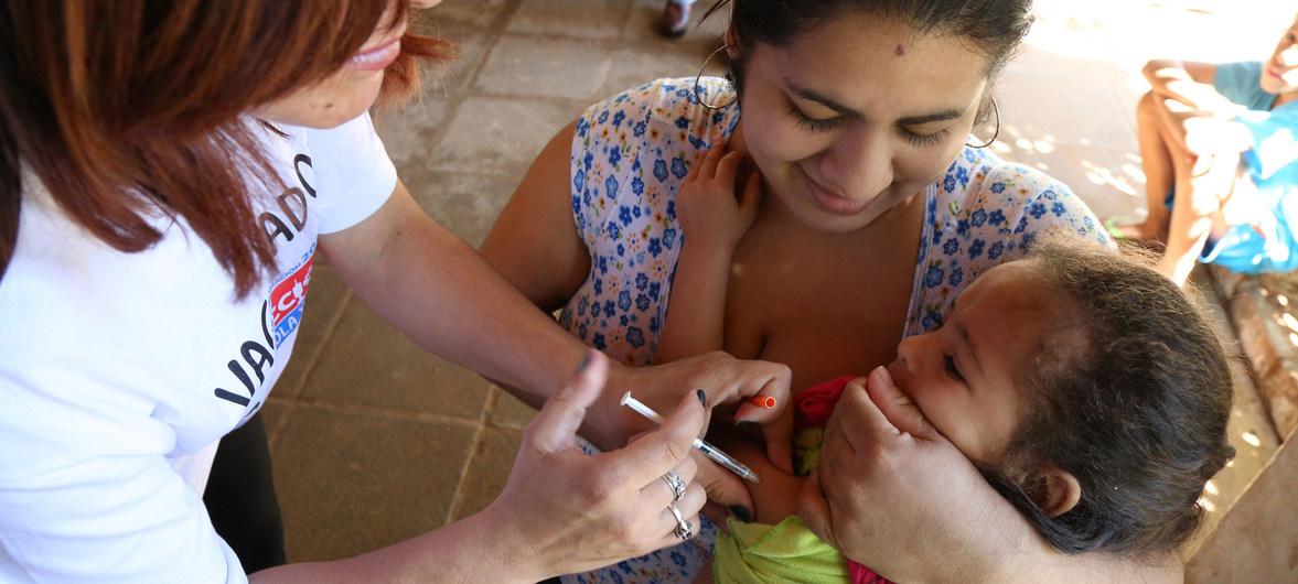 泛美卫生组织:拉美地区多种常见疫苗接种率减低