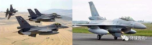 △土耳其和希腊两国发生空中对峙事件。图中分别为土耳其空军和希腊空军的F-16战机。