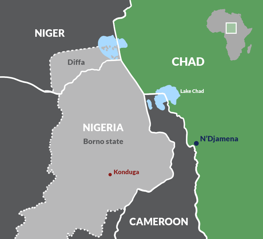 △长期以来,极端组织的暴力恐怖袭击一直困扰着乍得湖周边地区。