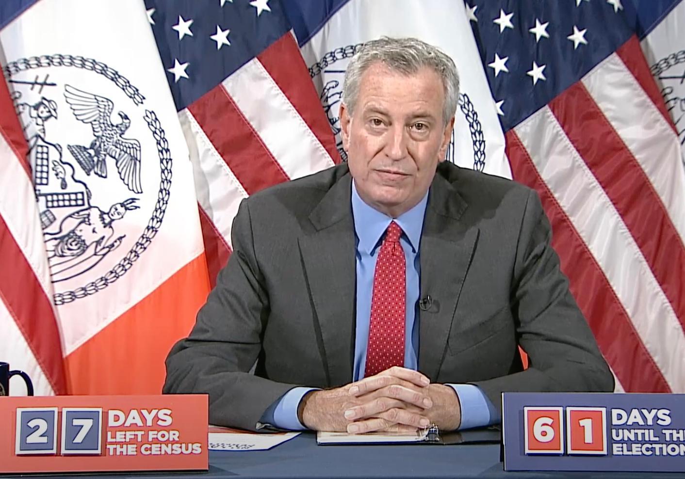 △美国纽约市长比尔·德布拉西奥