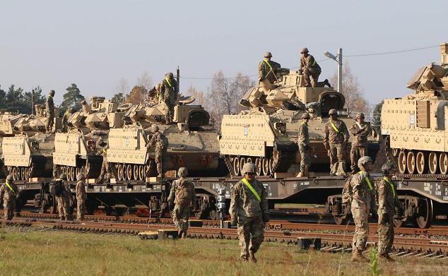△2019年10月,部署在立陶宛的美军艾布拉姆斯主战坦克(图片来源:爱沙尼亚国家广播电视台)