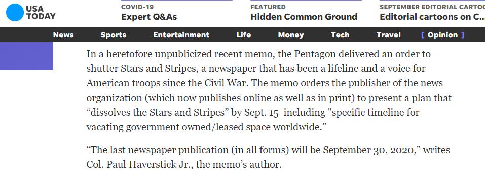 (截图来自美国军事记者Kathy Kiely发表在《今日美国》网站上的爆料文章)