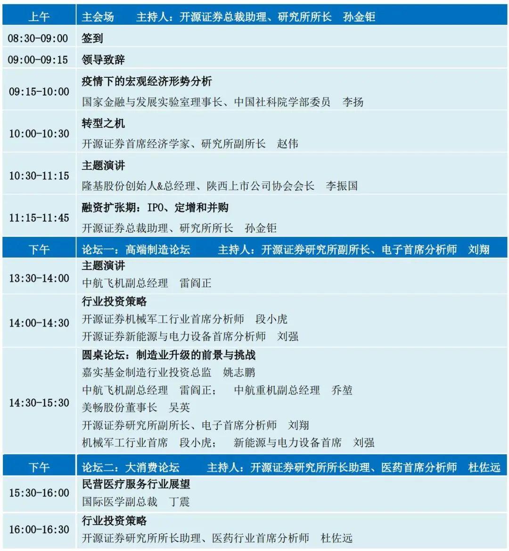 邀请函丨第一届陕西上市公司资本高峰论坛暨开源证券2020年度秋季投资策略会