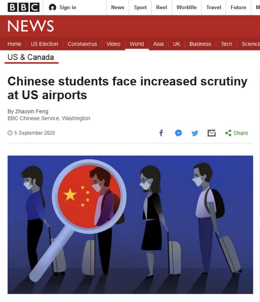 中国留学生痛陈在美机场被执法人员盘查:纯粹是骚扰图片