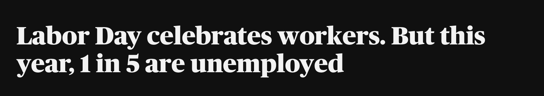 美媒:失业率居高不下 美国今年劳动节不值得庆祝