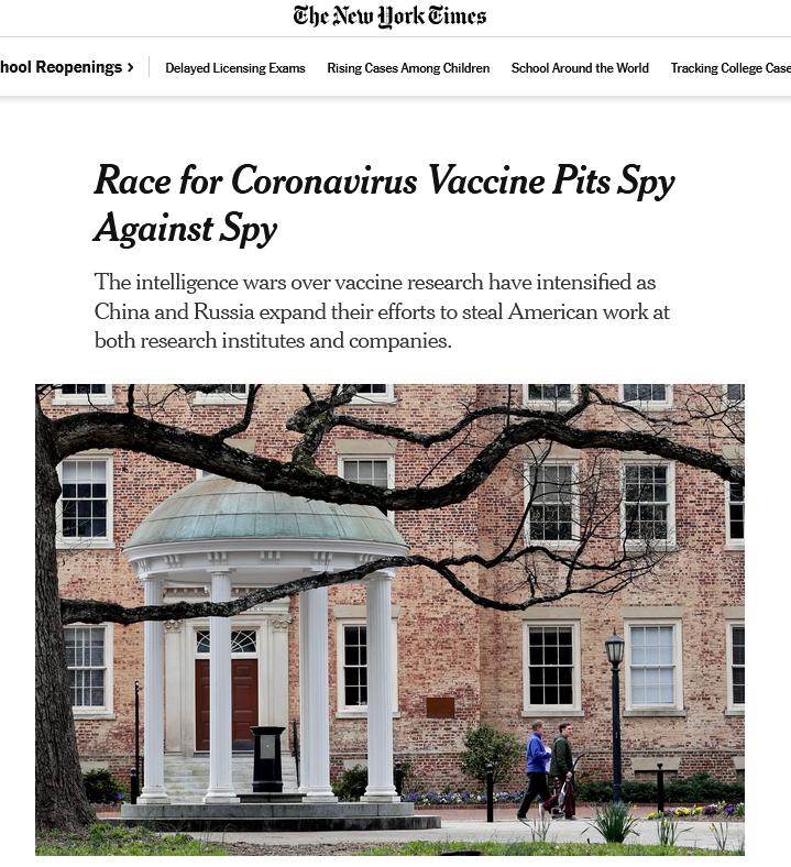 """没完没了?美媒又脑补""""中国偷盗美国疫苗成果""""大戏"""