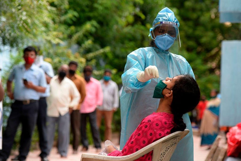 印度日增确诊人数再次刷新全球纪录(图源:Getty)
