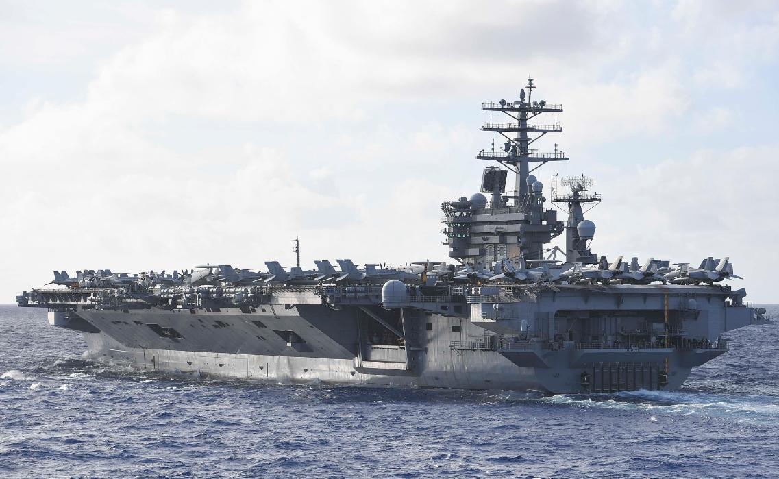 美国尼米兹号航母上一名水兵失踪 事发地靠近伊朗