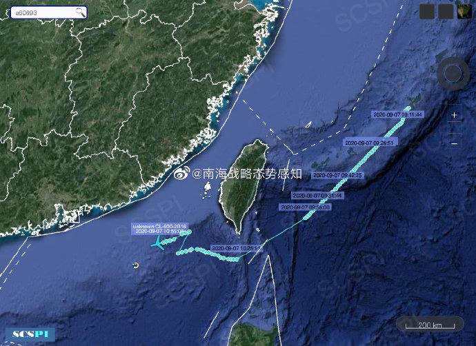 南海战略态势感知:美陆军侦察机从冲绳起飞往广东方向侦察