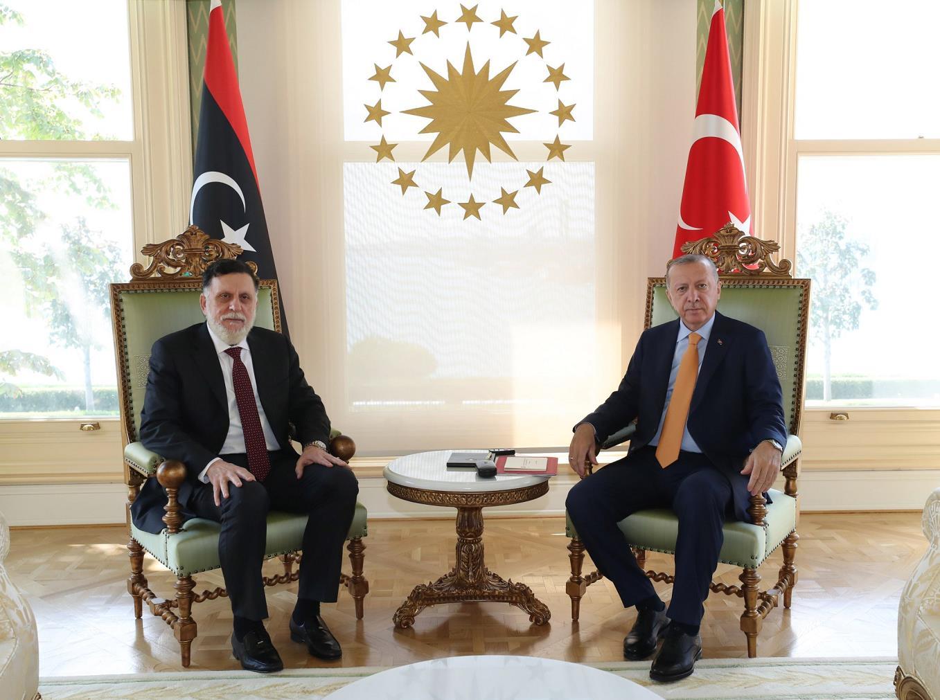 """利比亚民族团结政府总理访问土耳其 签订2份""""备忘录"""""""