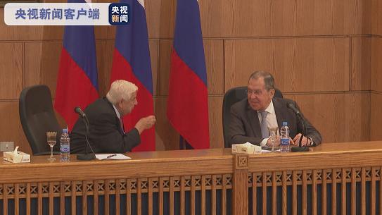 △叙利亚副总理兼外长穆阿利姆与俄罗斯外长拉夫罗夫交谈