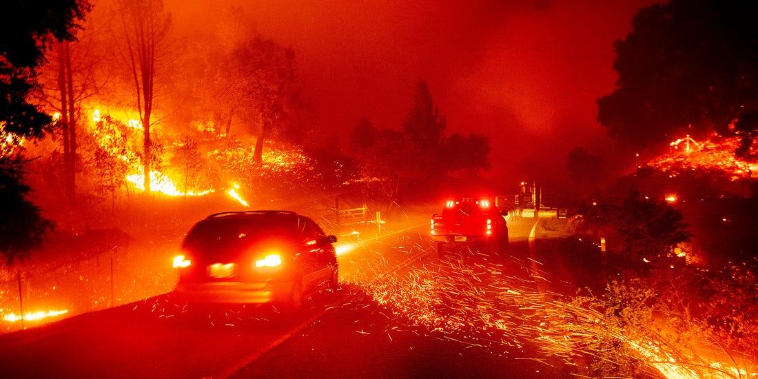 山火持续蔓延 美国加州已进入紧急状态