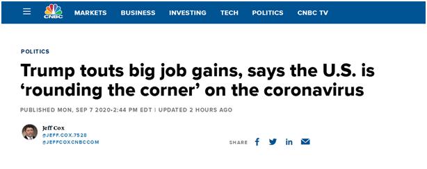 特朗普:美经济复苏速度历史最快 明年经济将最繁荣