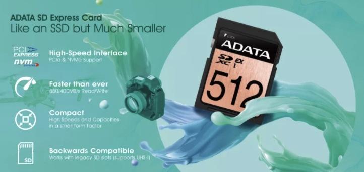 威刚发布新世代SD Express存储卡:读写880/400MB/s