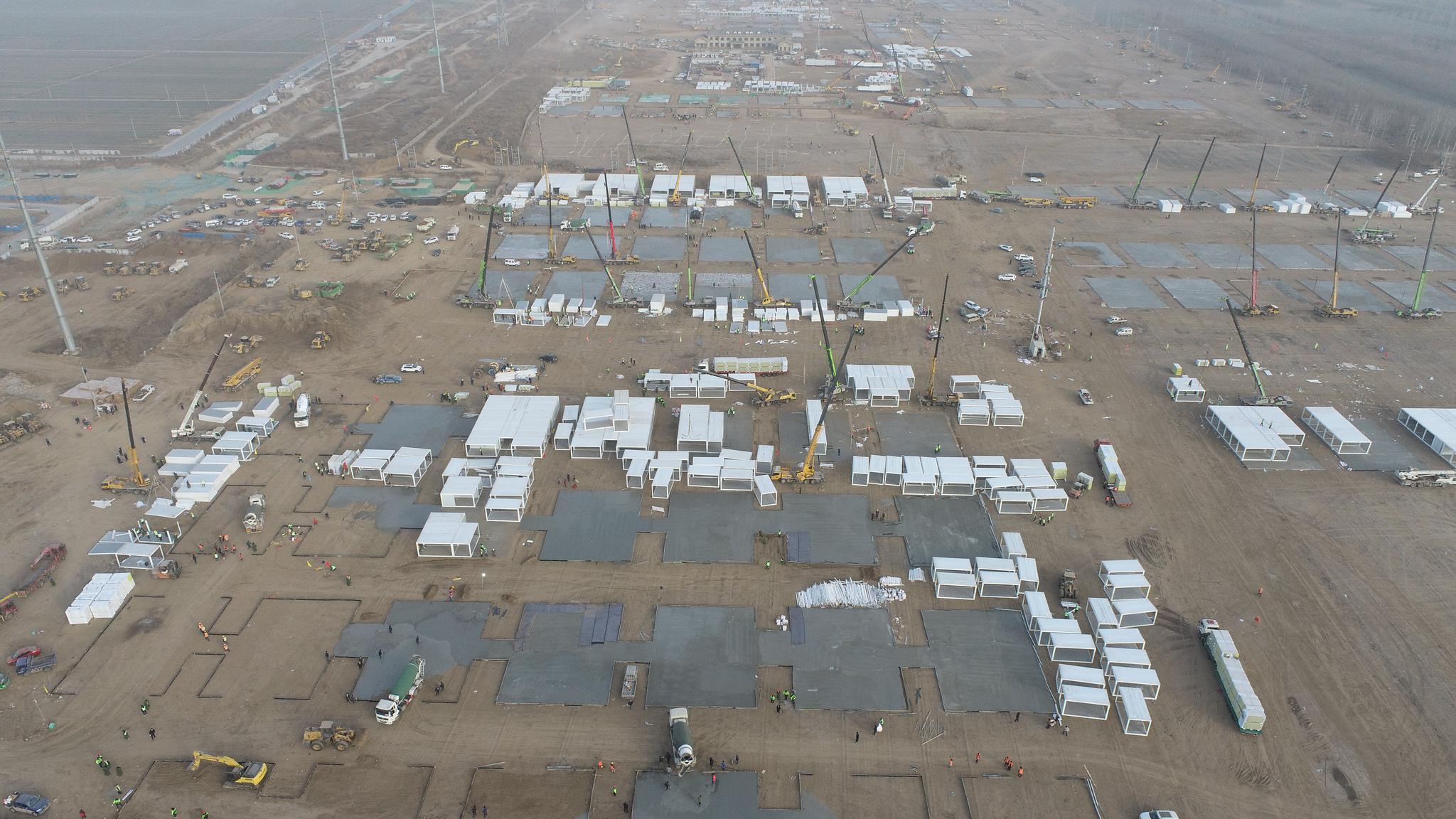 中建集团多点发力参战石家庄正定集中隔离点建设