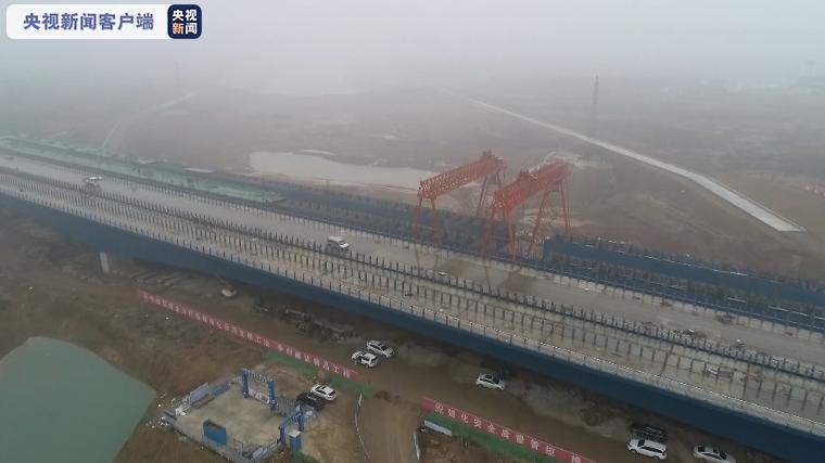 引江济淮工程最大跨度钢箱梁桥今天合龙图片